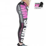 MM Hardcore Tights Wmn, Black/Neon Pink