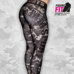 MM Camo Tights Wmn, Army Green