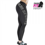 MM Sports Comp Tights Wmn, Black/Gun Metal