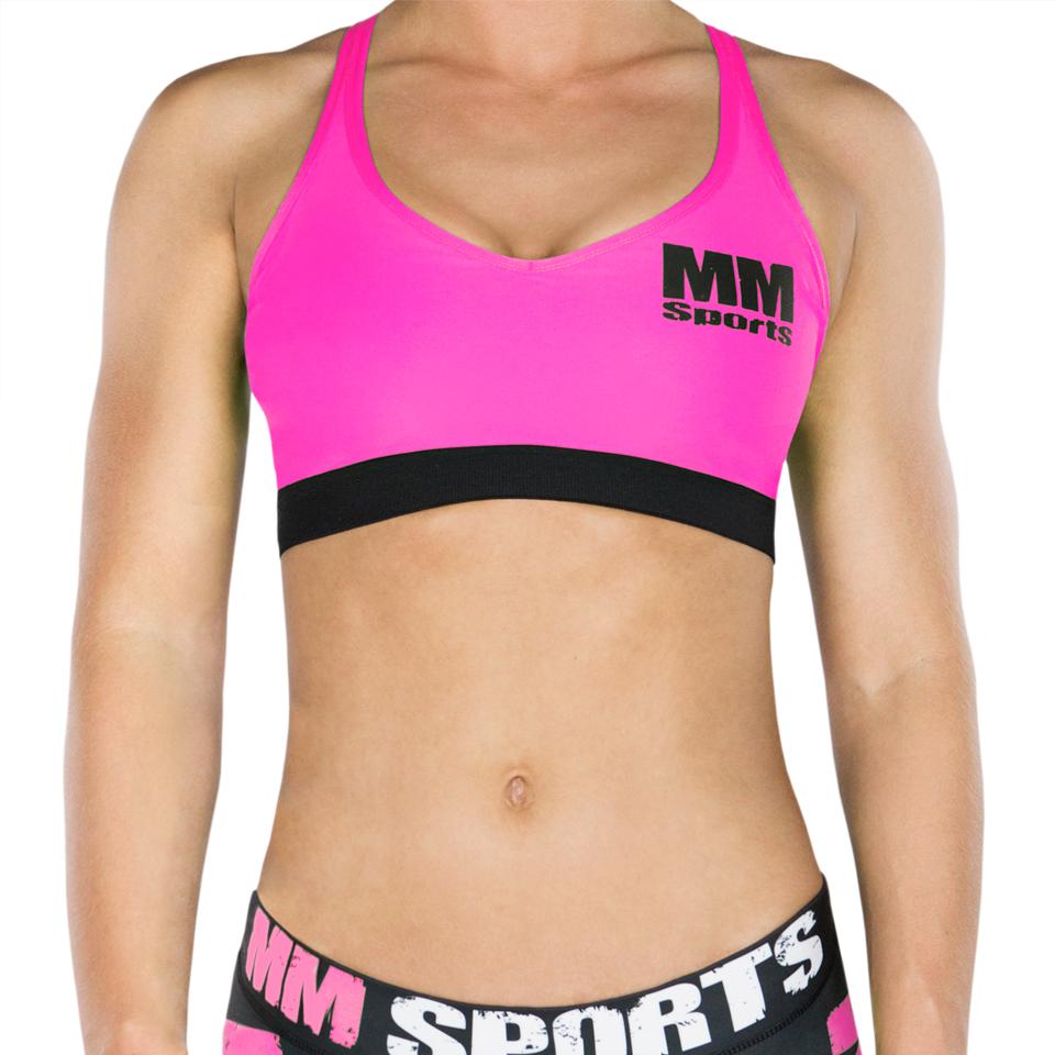 mm sports bra neon pink sport bh dam tr ningskl der. Black Bedroom Furniture Sets. Home Design Ideas